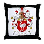 Straus Family Crest  Throw Pillow