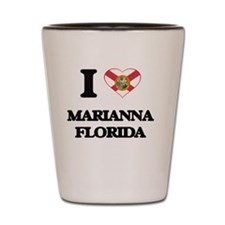 I love Marianna Florida Shot Glass