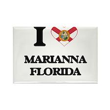 I love Marianna Florida Magnets