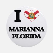 I love Marianna Florida Ornament (Round)