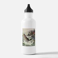 Vintage Fishing, Rainb Water Bottle
