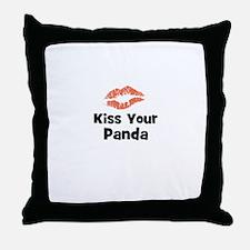 Kiss Your Panda Throw Pillow