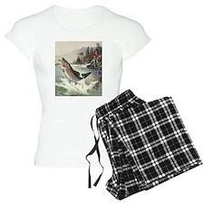 Vintage Fishing, Rainbow Tr Pajamas