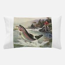 Vintage Fishing, Rainbow Trout Pillow Case