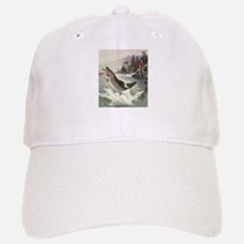 Vintage Fishing, Rainbow Trout Baseball Baseball Cap