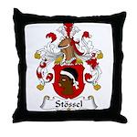Stossel Family Crest Throw Pillow