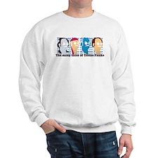Many Faces of Tobias Sweatshirt