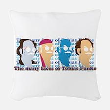 Many Faces of Tobias Woven Throw Pillow