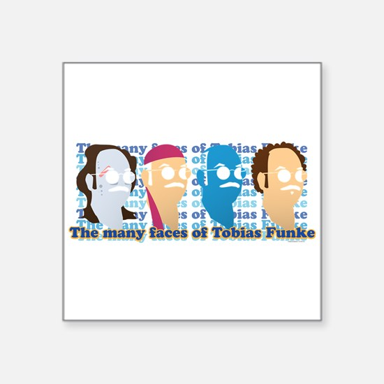 """Many Faces of Tobias Square Sticker 3"""" x 3"""""""