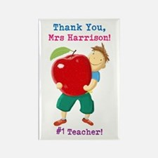 Cute Apple teachers Rectangle Magnet
