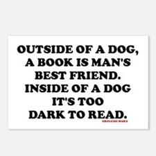 OUTSIDE OF A DOG, A BOOK  Postcards (Package of 8)