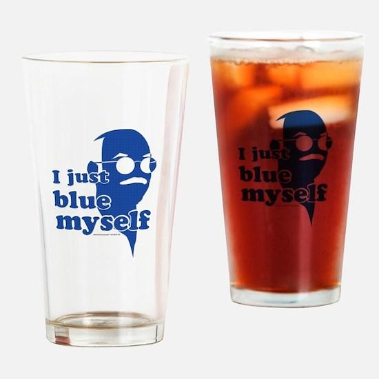 I Blue Myself Drinking Glass