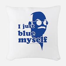 I Blue Myself Woven Throw Pillow
