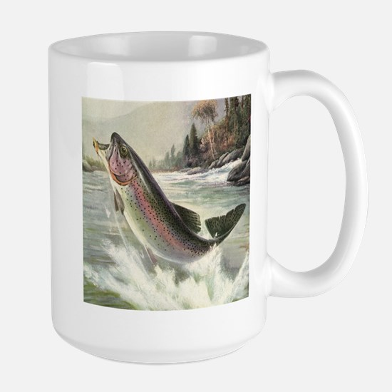 Vintage Rainbow Trout Mugs