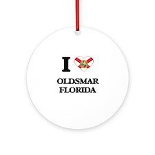I love Oldsmar Florida Ornament (Round)
