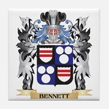 Bennett Coat of Arms - Family Crest Tile Coaster