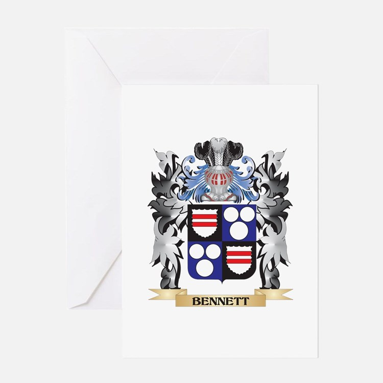 Bennett Coat of Arms - Family Crest Greeting Cards