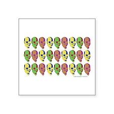 """Tobias Multicolored Face Square Sticker 3"""" x 3"""""""