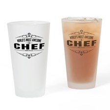 Worlds Most Awesome Chef Drinking Glass