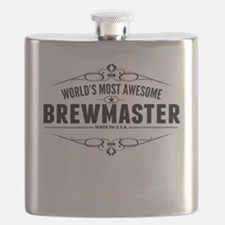 Worlds Most Awesome Brewmaster Flask