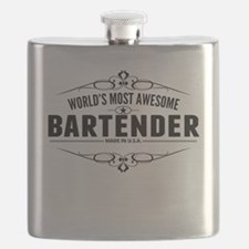 Worlds Most Awesome Bartender Flask