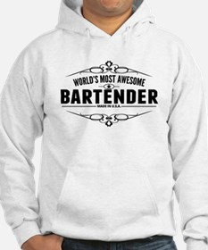 Worlds Most Awesome Bartender Hoodie