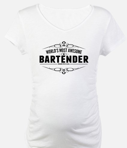 Worlds Most Awesome Bartender Shirt