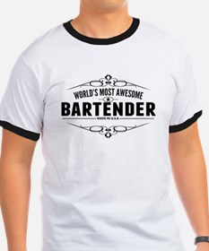 Worlds Most Awesome Bartender T-Shirt