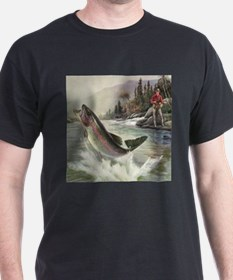 Vintage Fishing, Rainbow Trout T-Shirt