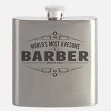 Worlds Most Awesome Barber Flask