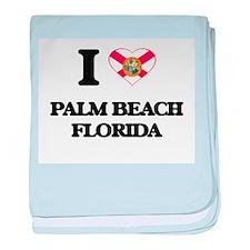 I love Palm Beach Florida baby blanket