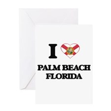 I love Palm Beach Florida Greeting Cards