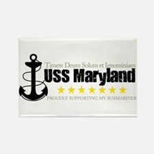 USS Maryland Rectangle Magnet