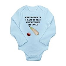Play Cricket Like My Uncle Body Suit