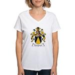 Stockum Family Crest Women's V-Neck T-Shirt