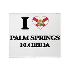 I love Palm Springs Florida Throw Blanket