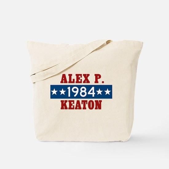 Vote Alex P Keaton 1984 Tote Bag