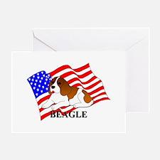 Beagle USA Greeting Card
