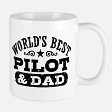World's Best Pilot and Dad Small Mugs