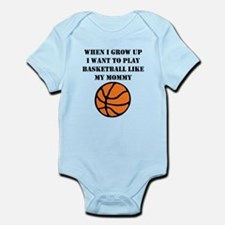 Play Basketball Like My Mommy Body Suit