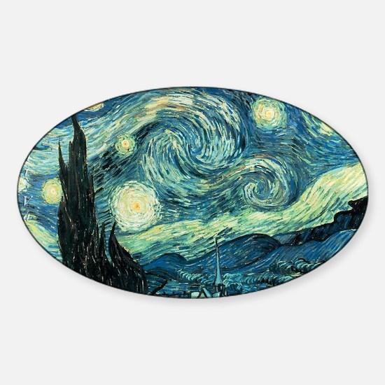 Custom Fine Art Prints Oval Sticker: Van Gogh