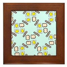 Breakfast pattern Framed Tile