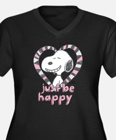Snoopy Just Be Happy Plus Size T-Shirt