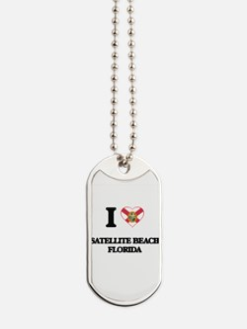 I love Satellite Beach Florida Dog Tags