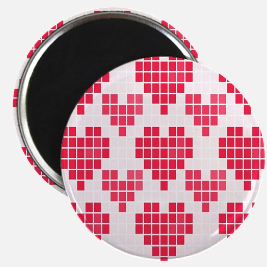 Pink Hearts Magnet