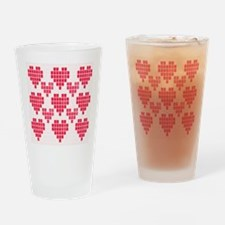 Pink Hearts Drinking Glass