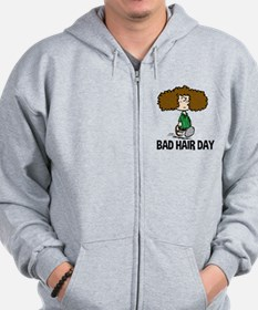Peppermint Patty Bad Hair Day Zip Hoodie