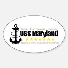 USS Maryland Oval Decal