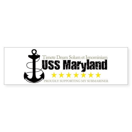 USS Maryland Bumper Sticker