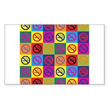 Pop Art No Smoking Rectangle Decal